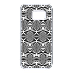 Seamless Weave Ribbon Hexagonal Samsung Galaxy S7 White Seamless Case