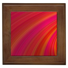 Abstract Red Background Fractal Framed Tiles