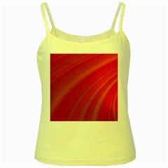 Abstract Red Background Fractal Yellow Spaghetti Tank