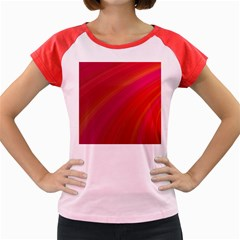 Abstract Red Background Fractal Women s Cap Sleeve T Shirt