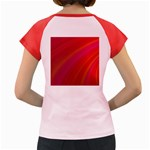 Abstract Red Background Fractal Women s Cap Sleeve T-Shirt Back
