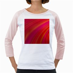 Abstract Red Background Fractal Girly Raglans
