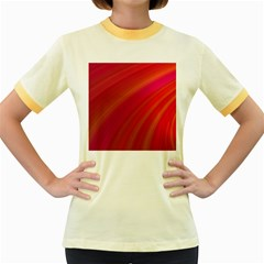 Abstract Red Background Fractal Women s Fitted Ringer T Shirts