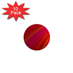 Abstract Red Background Fractal 1  Mini Buttons (10 Pack)