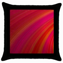 Abstract Red Background Fractal Throw Pillow Case (black)
