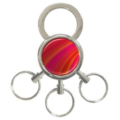 Abstract Red Background Fractal 3 Ring Key Chains by Nexatart