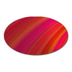 Abstract Red Background Fractal Oval Magnet