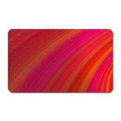 Abstract Red Background Fractal Magnet (rectangular)