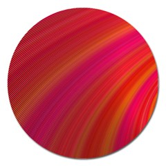 Abstract Red Background Fractal Magnet 5  (round)