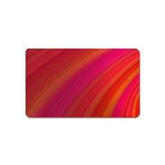 Abstract Red Background Fractal Magnet (name Card)