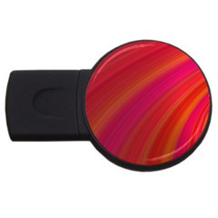 Abstract Red Background Fractal Usb Flash Drive Round (2 Gb)
