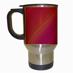 Abstract Red Background Fractal Travel Mugs (white)