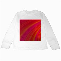 Abstract Red Background Fractal Kids Long Sleeve T Shirts