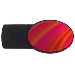 Abstract Red Background Fractal Usb Flash Drive Oval (4 Gb)