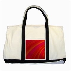 Abstract Red Background Fractal Two Tone Tote Bag