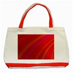 Abstract Red Background Fractal Classic Tote Bag (Red) Front
