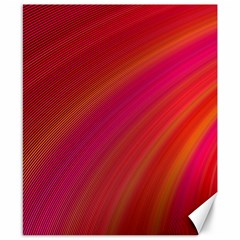 Abstract Red Background Fractal Canvas 8  X 10