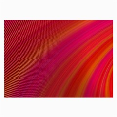 Abstract Red Background Fractal Large Glasses Cloth