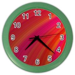 Abstract Red Background Fractal Color Wall Clocks