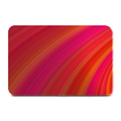 Abstract Red Background Fractal Plate Mats