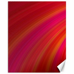 Abstract Red Background Fractal Canvas 11  X 14