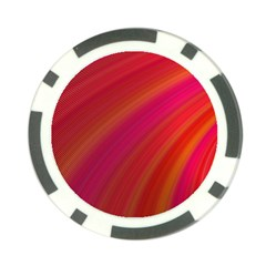 Abstract Red Background Fractal Poker Chip Card Guard