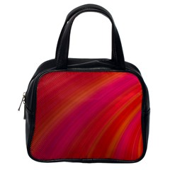 Abstract Red Background Fractal Classic Handbags (one Side)