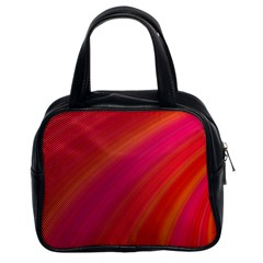 Abstract Red Background Fractal Classic Handbags (2 Sides)