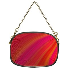 Abstract Red Background Fractal Chain Purses (one Side)