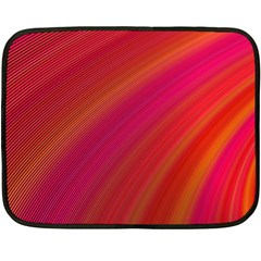 Abstract Red Background Fractal Double Sided Fleece Blanket (mini)