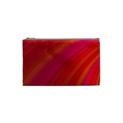 Abstract Red Background Fractal Cosmetic Bag (small)