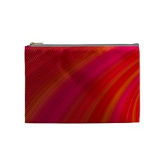 Abstract Red Background Fractal Cosmetic Bag (medium)