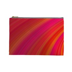Abstract Red Background Fractal Cosmetic Bag (large)