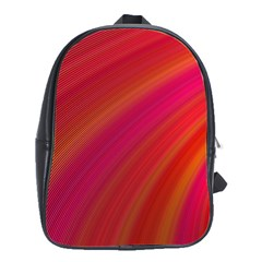 Abstract Red Background Fractal School Bag (large)