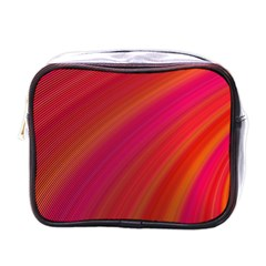 Abstract Red Background Fractal Mini Toiletries Bags