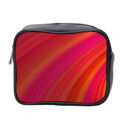 Abstract Red Background Fractal Mini Toiletries Bag 2 Side