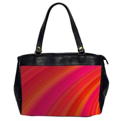 Abstract Red Background Fractal Office Handbags (2 Sides)