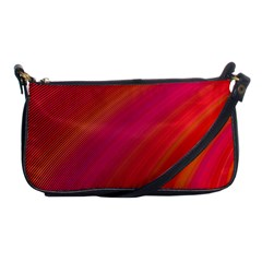 Abstract Red Background Fractal Shoulder Clutch Bags