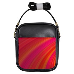Abstract Red Background Fractal Girls Sling Bags
