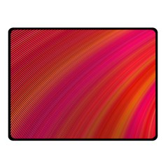 Abstract Red Background Fractal Fleece Blanket (small)