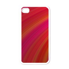 Abstract Red Background Fractal Apple Iphone 4 Case (white)