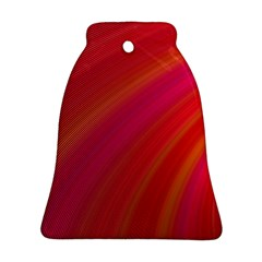 Abstract Red Background Fractal Bell Ornament (two Sides)