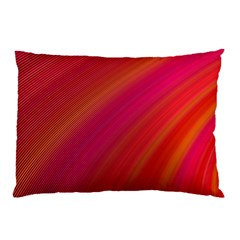 Abstract Red Background Fractal Pillow Case (two Sides)