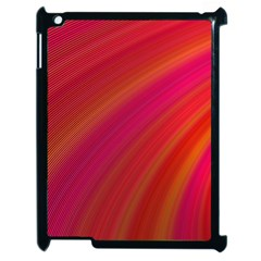 Abstract Red Background Fractal Apple Ipad 2 Case (black)
