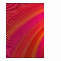 Abstract Red Background Fractal Small Garden Flag (two Sides)
