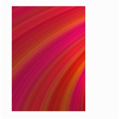 Abstract Red Background Fractal Large Garden Flag (two Sides)