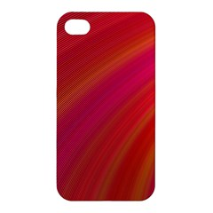 Abstract Red Background Fractal Apple Iphone 4/4s Premium Hardshell Case