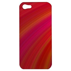 Abstract Red Background Fractal Apple Iphone 5 Hardshell Case