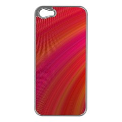 Abstract Red Background Fractal Apple Iphone 5 Case (silver)
