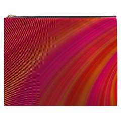 Abstract Red Background Fractal Cosmetic Bag (xxxl)